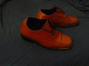 Zapatos De Cuero Original Con Elevacion De 7 Cm S/ 110