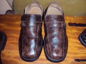 Zapatos De Vestir De Puro Cuero Marca Iguana Usado Talla 40