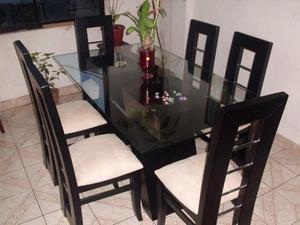 Comedores modernos y elegantes finest comedores modernos for Juego de comedor de vidrio y madera