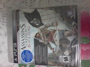 PS3: JUEGO ASSASSINS CREED IV BLACK BLACK NUEVO Y SELLADA