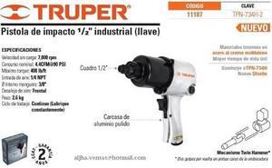 Pistola Neumatica 1/2 Pulg Truper 11187 Tpn-734h-2