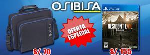 Resident Evil 7 Ps4 y Maletín para tu Consola Ps4 Osibisa