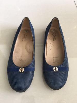 Zapato De Ñiña Color Azul Talla 33 - Marca Petit Moi!!