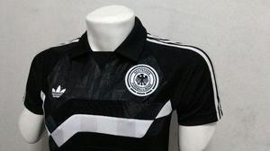 Camiseta Alemania Retro Visitante Adidas Original - Talla M