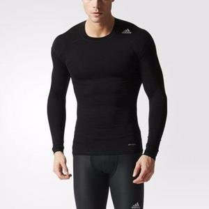 Camiseta Deportiva Adidas Tech Fit Color Negro Talla S Gym