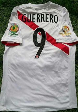 Camiseta Perú Copa América 2016 Guerrero Usada En Juego