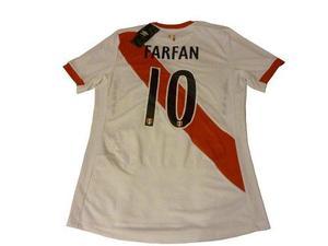 Camiseta Selección Perú Original Grabado En Felpa New