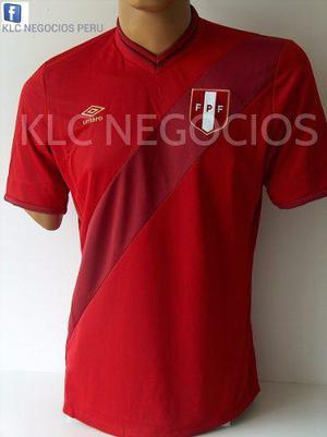 Camiseta Seleccion De Peru 2014 Roja Alterna - No 2016