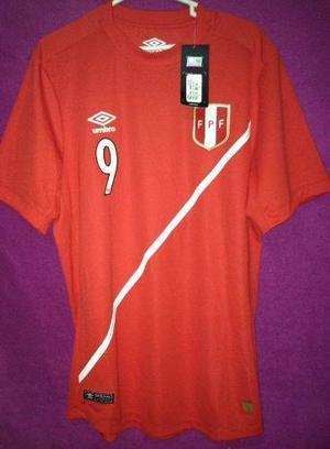 Camiseta Seleccion Peruana Umbro 2015 Alterna Rojas Talle L