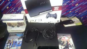 Consola Ps3 160 Gb. Mando Cables De Poder Y Dos Juegos