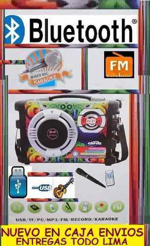 Mini Ampliflicador Karaoke Portatil Bluetooth Nuevo En Caja