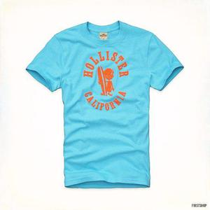 Polo Hollister Original Camiseta Con Estampado Talla L