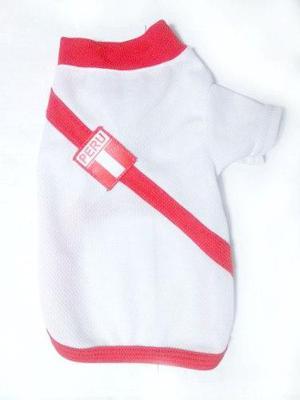 Ropa Para Perros - Camiseta Selección Perú Talla Chica 0 Y