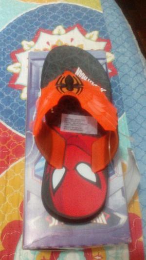 Sandalias originales disney spiderman talla