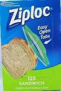 Caja De Bolsas De Sandwich Ziploc