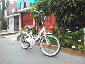 Bicicleta Aro 20, Hermosa, Modelo Vintage, Asiento Nuevo