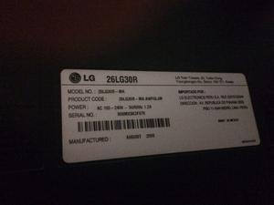 Vendo Televisor Lg De 26 Y Reproductor De Blu-ray Lg