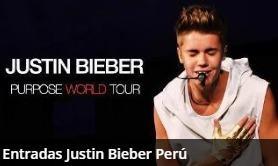 Entradas Justin Bieber Campo A (720 Soles), Norte(120 Soles)