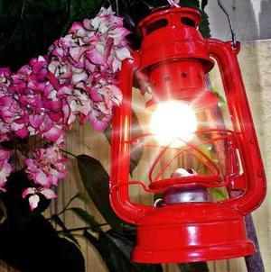 Lamparin Clasico Rustico Con Luz Lampara Colgante Decorativa