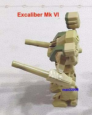 18 Cm Macross Robotech Excaliber Mkvi Avión F-14 Tanque