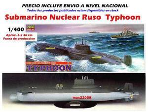 46 Cm Barco Submarino Typhonn Sukhoi Mig Tanque Avion Dragon