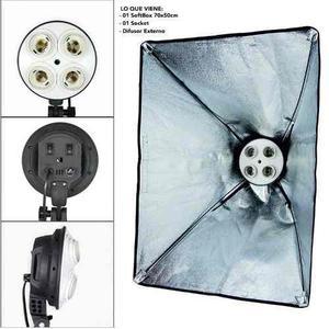 Iluminación Continua Para 4 Focos Socket Para Foto O Video