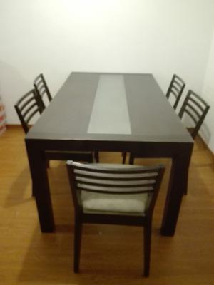 Juego de comedor mesa de vidrio con madera posot class for Juego de comedor con mesa de vidrio