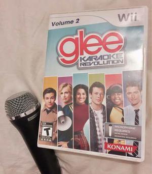 Juego Glee Karaoke Para Nintendo Wii Con Micrófono,