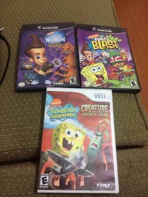 Juegos Gamecube Wii Nickelodeon Jimmy Neutron Bob Esponja