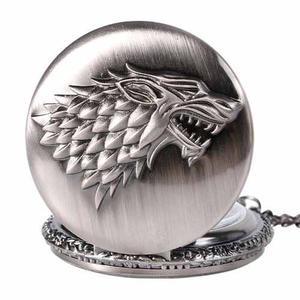 Reloj De Bolsillo Game Of Thrones Juego De Tronos Casa Stark