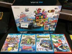 Wii U [32gb] Edición Super Mario 3d World +5 Juegos