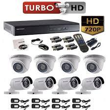 kIT 8 Camaras de Seguridad HD 720P 1MP HIKVISION DISCO DURO