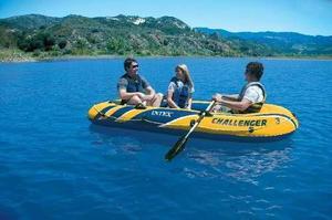 Bote Inflable Challenger Intex 3 Personas Camping Playa Rio