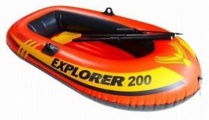 Bote Inflable Explorer 200 Playa Piscina Remos Inflador