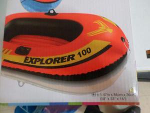 Bote Inflable Intex Explorer 100 Playa Piscina Rio Etc