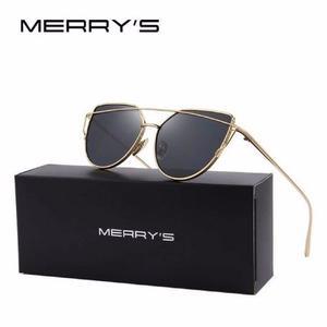 Lentes De Sol Para Mujer Merry's Gafas Doble Marco Gato 788