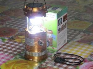 Lámpara Linterna Led Solar Y Corriente Para Camping