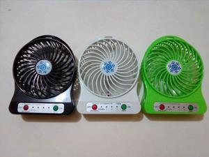 Mini Ventilador Recargable De 3 Velocidades