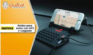Remax Holder de Celular,Tablet y GPS para Autos con cable