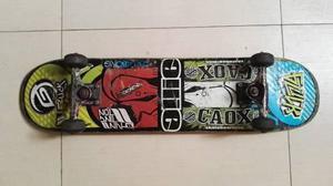 Tabla Skate Ollie, Trucks Gzuck Y Llantas Black Tower