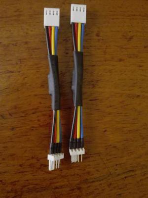 2x Cable Disminución De Ruido Rpm De Pc Fan Ventilador 4