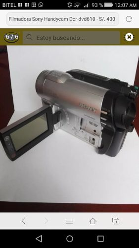 Filmadora Sony Handycam 40x