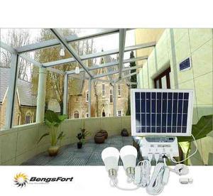 Kit Portatil De Iluminacion De Energia Solar De 2 Luces
