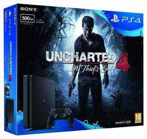 Ps4 Play Station 4 Slim 500 Gb Juego Uncharted 4 Delivery.