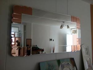 Espejo moderno decorativo para sala o comedor posot class for Espejos horizontales para comedor