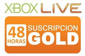 Membresia Xbox Live Gold 48 Horas Xbox One 360 Inmediata.!