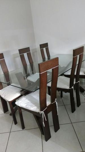 Juego comedor 1 base y 6 sillas madera cedro2 posot class for Juego de 6 sillas para comedor
