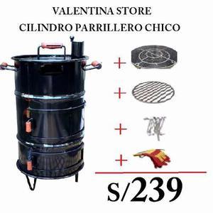 Cilindro Parrillero Chico + Accesorios En Oferta