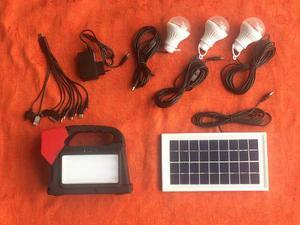 Kit De Iluminación Y Carga Usb De Energia Solar