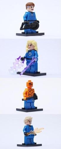 Los Cuatro Fantasticos Minifiguras Compatibles Con Lego